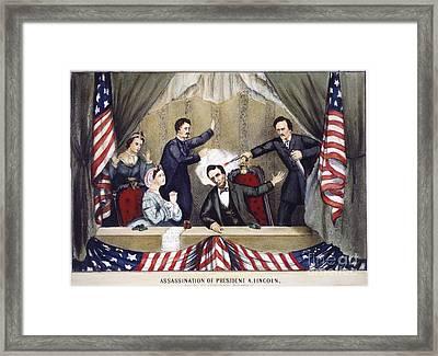 Lincoln Assassination Framed Print by Granger