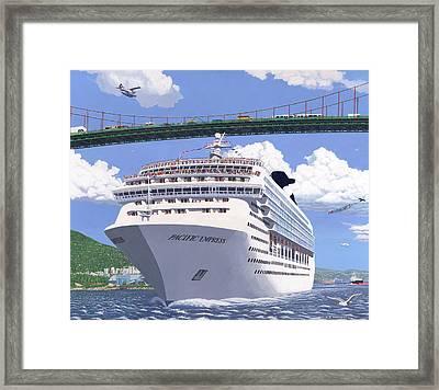 Lions Gate Bon Voyage Framed Print by Neil Woodward