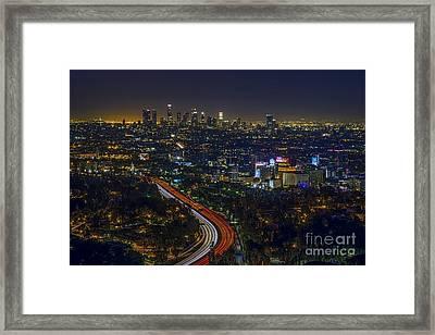 Los Angeles Sunrise Framed Print by Art K