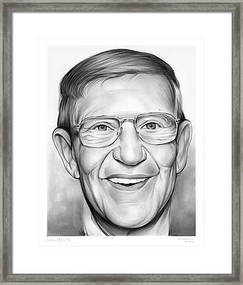 Lou Holtz Framed Print by Greg Joens