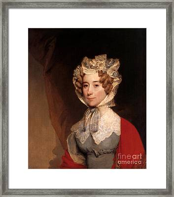 Louisa Adams, First Lady Framed Print by Science Source