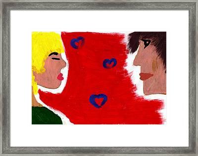 Love Framed Print by Celebrity Popart