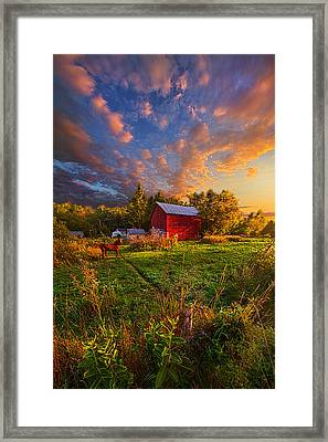 Love's Pure Light Framed Print by Phil Koch