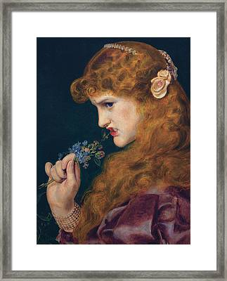 Love's Shadow Framed Print by Frederick Sandys