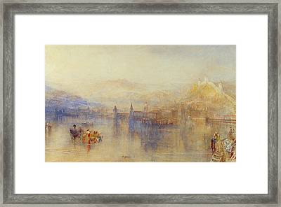 Lucerne From The Lake Framed Print by JMW Turner