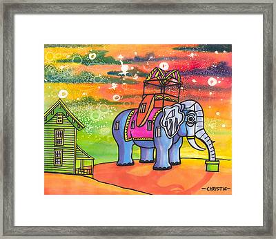 Lucy In The Sky With Diamonds Framed Print by Christie Mealo