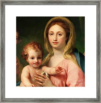 Madonna And Child Framed Print by Anton Raphael Mengs