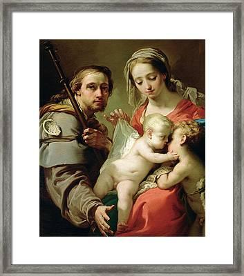 Madonna And Child Framed Print by Gaetano Gandolfi