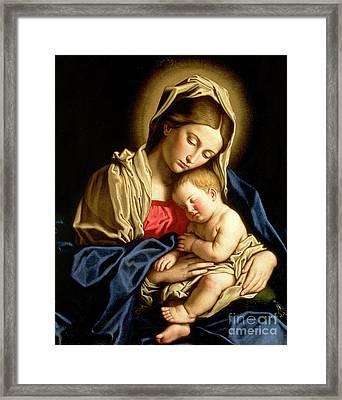 Madonna And Child Framed Print by Il Sassoferrato