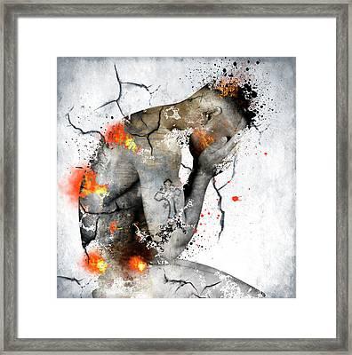 Male Nude  Framed Print by Mark Ashkenazi