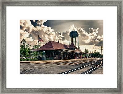 Manassas Train Station Framed Print by Gene Sizemore