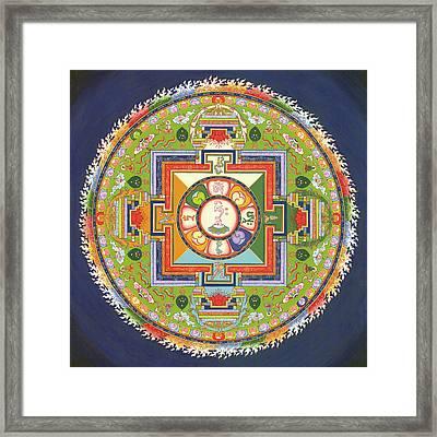 Mandala Of Avalokiteshvara           Framed Print by Carmen Mensink