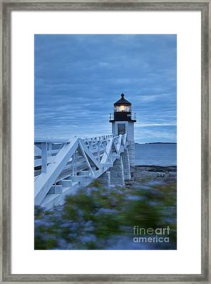 Marshall Point Light Framed Print by John Greim