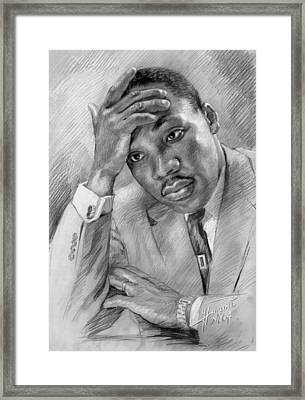 Martin Luther King Jr Framed Print by Ylli Haruni