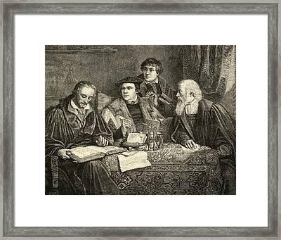 Martin Luther,1483-1546. German Framed Print by Vintage Design Pics