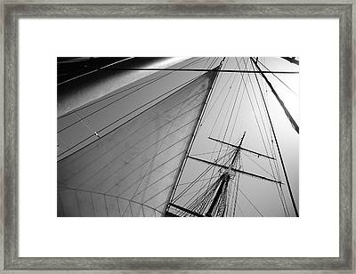 Mast Framed Print by Kreddible Trout