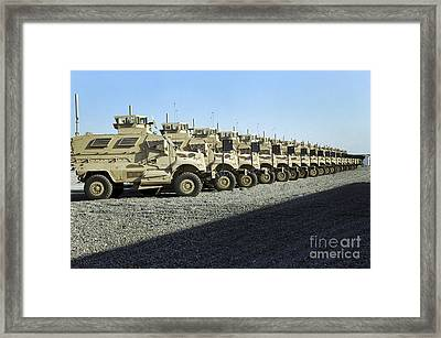 Maxxpro Mine Resistant Ambush Protected Framed Print by Stocktrek Images