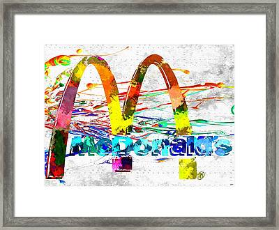 Mcdonald's Grunge Framed Print by Daniel Janda