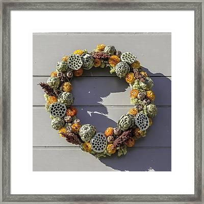 Mckenzie Apothecary Wreath Framed Print by Teresa Mucha