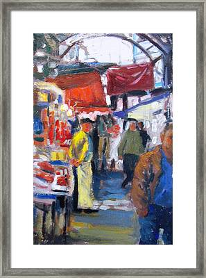 Meat Market Framed Print by George Siaba