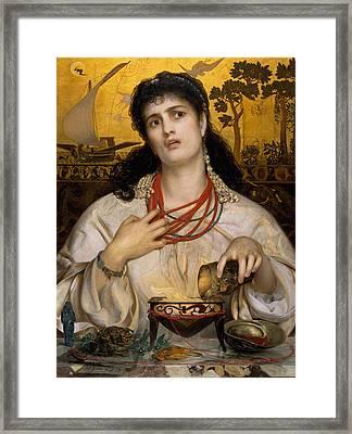 Medea Framed Print by Frederick Sandys