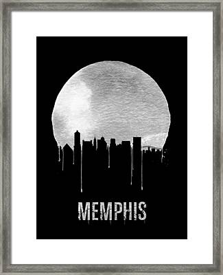 Memphis Skyline Black Framed Print by Naxart Studio