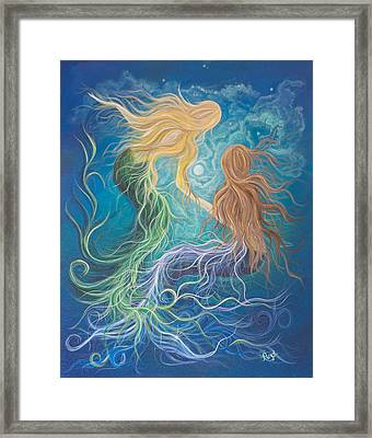 Merfriends Framed Print by Angel Fritz