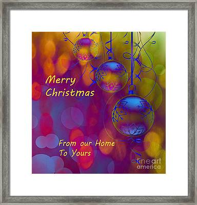 Merry Christmas Framed Print by Beverly Guilliams