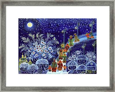 Merry Christmas Framed Print by Marfa Tymchenko