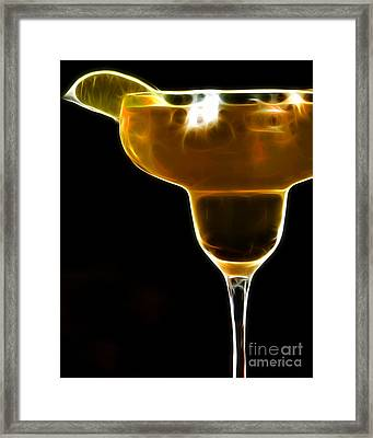 Mexico Gold . Lime Margarita Framed Print by Wingsdomain Art and Photography