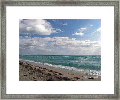 Miami Beach Framed Print by Amanda Barcon