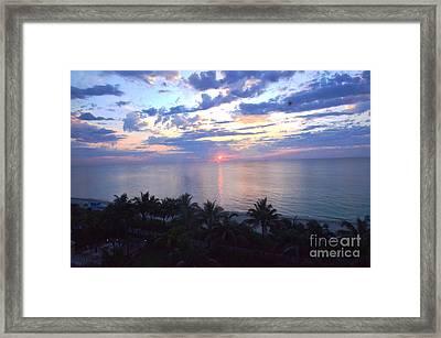 Miami Sunrise Framed Print by Pravine Chester