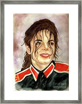 Michael Jackson - You Are My Life Framed Print by Nicole Wang