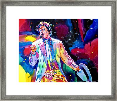 Michael Jackson Smooth Criminal Framed Print by David Lloyd Glover