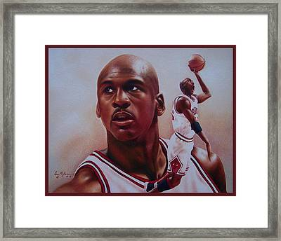 Michael Jordan Framed Print by Cory McKee