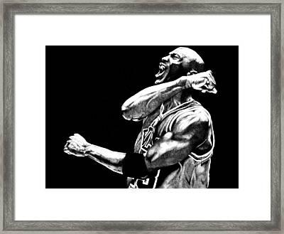 Michael Jordan Framed Print by Jake Stapleton