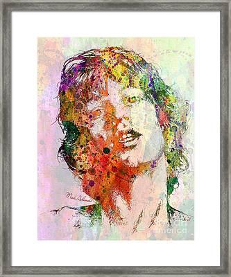 Mick Jagger Framed Print by Mark Ashkenazi