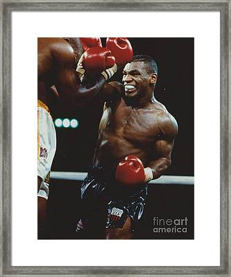 Mike Tyson 2 Framed Print by Dennis ONeil