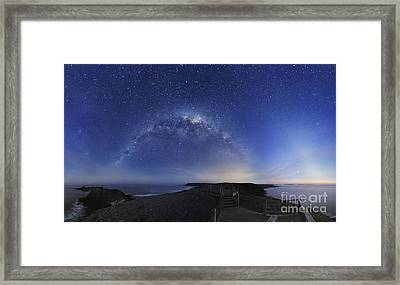 Milky Way Over Phillip Island, Australia Framed Print by Alex Cherney, Terrastro
