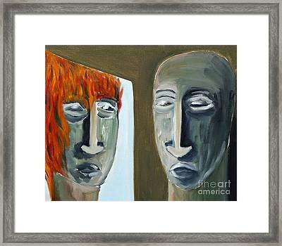 Mirroring Framed Print by Michal Boubin