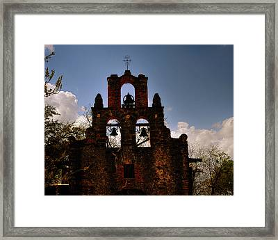 Mission San Francisco De La Espada Framed Print by Gerlinde Keating - Galleria GK Keating Associates Inc