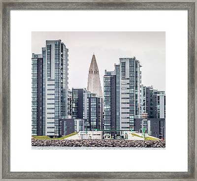 Modern Apartment Buildings Surrounding Framed Print by Panoramic Images