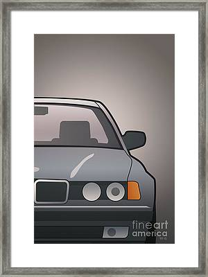 Modern Euro Icons Series Bmw E32 740i Framed Print by Monkey Crisis On Mars