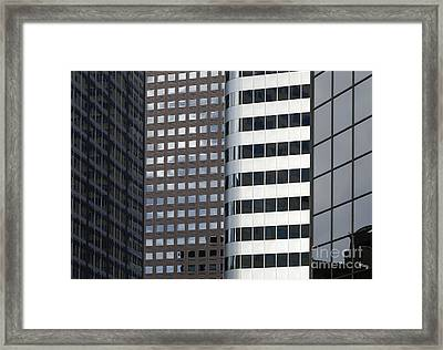 Modern High Rise Office Buildings Framed Print by Roberto Westbrook