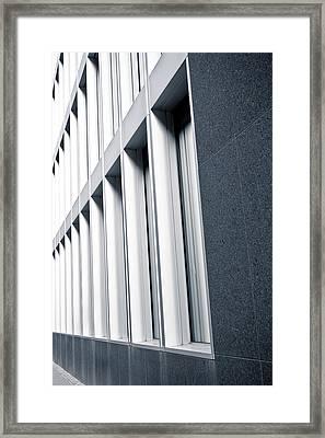 Modern Windows  Framed Print by Tom Gowanlock