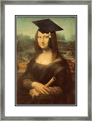 Mona Lisa  Graduation Day Framed Print by Gravityx9  Designs