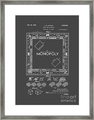 Monopoly Original Patent Art Drawing T-shirt Framed Print by Edward Fielding