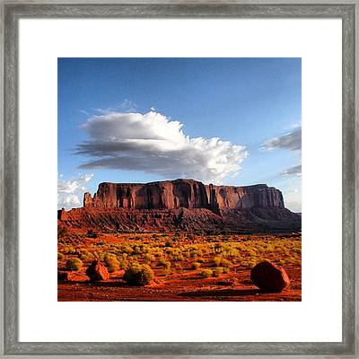 Monument Valley Framed Print by Luisa Azzolini