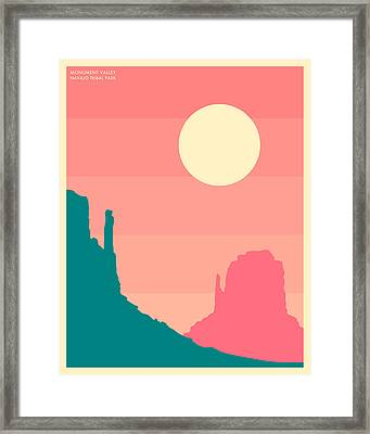 Monument Valley, Navajo Tribal Park Framed Print by Jazzberry Blue