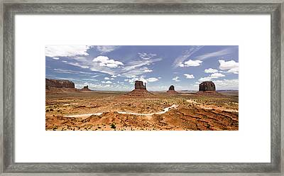 Monument Valley Wide Angle Framed Print by Ryan Kelly